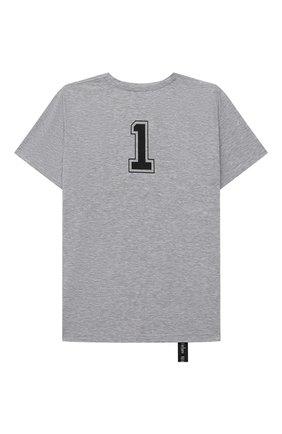 Детская хлопковая футболка MAKODAY серого цвета, арт. MA20T003/CoPs05 | Фото 2