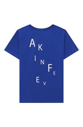 Детская хлопковая футболка MAKODAY синего цвета, арт. MA20T403/CoLy05 | Фото 2