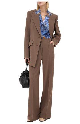 Женские брюки NANUSHKA коричневого цвета, арт. CLE0_CLAY_CADY   Фото 2