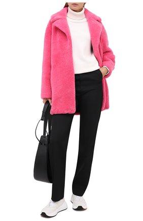 Женская дубленка METEO YVES SALOMON розового цвета, арт. 9WMM61880MERC | Фото 2