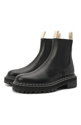 Женские комбинированные ботинки PROENZA SCHOULER черного цвета, арт. PS35115A/12140 | Фото 1