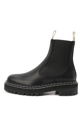 Женские комбинированные ботинки PROENZA SCHOULER черного цвета, арт. PS35115A/12140 | Фото 2