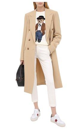 Женские брюки POLO RALPH LAUREN белого цвета, арт. 211752934 | Фото 2