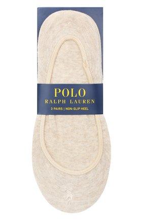 Женские комплект из трех пар подследников POLO RALPH LAUREN бежевого цвета, арт. 455685335 | Фото 1