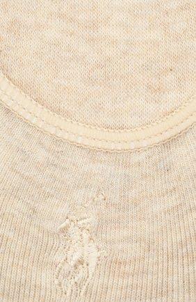 Женские комплект из трех пар подследников POLO RALPH LAUREN бежевого цвета, арт. 455685335 | Фото 2