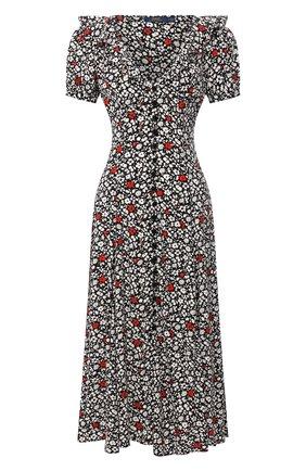 Женское платье из вискозы POLO RALPH LAUREN разноцветного цвета, арт. 211800587 | Фото 1