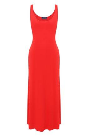 Женское платье из вискозы POLO RALPH LAUREN красного цвета, арт. 211800465 | Фото 1