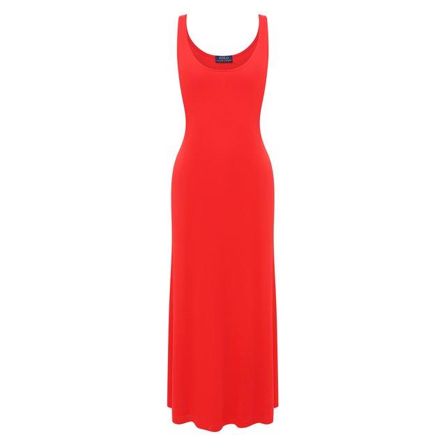 Платье из вискозы Polo Ralph Lauren
