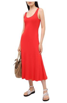 Женское платье из вискозы POLO RALPH LAUREN красного цвета, арт. 211800465 | Фото 2