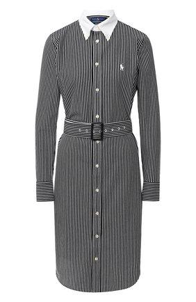 Женское хлопковое платье POLO RALPH LAUREN черно-белого цвета, арт. 211800463 | Фото 1