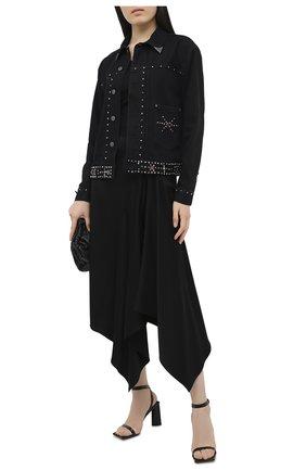 Женская джинсовая куртка POLO RALPH LAUREN черного цвета, арт. 211799678   Фото 2