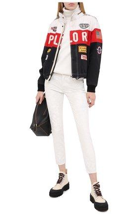 Женские джинсы POLO RALPH LAUREN белого цвета, арт. 211799669 | Фото 2