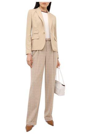 Женские шерстяные брюки RALPH LAUREN бежевого цвета, арт. 290825758 | Фото 2