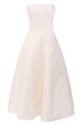 Женское шелковое платье RALPH LAUREN кремвого цвета, арт. 290815948 | Фото 1
