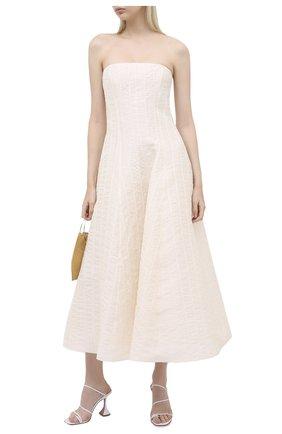 Женское шелковое платье RALPH LAUREN кремвого цвета, арт. 290815948 | Фото 2