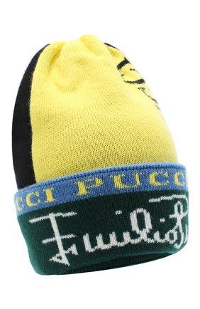 Женский шерстяная шапка EMILIO PUCCI зеленого цвета, арт. 0RKX15/0R958 | Фото 1