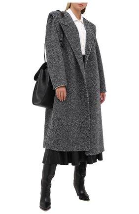 Женское шерстяное пальто ISABEL MARANT серого цвета, арт. MA0798-20A011I/GELT0N | Фото 2