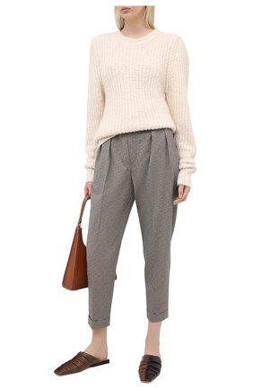 Женские брюки из вискозы и хлопка ISABEL MARANT серого цвета, арт. PA1743-20A017I/0CEY0 | Фото 2