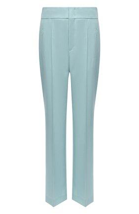Женские шерстяные брюки ISABEL MARANT зеленого цвета, арт. PA1764-20A016I/L0KIA | Фото 1