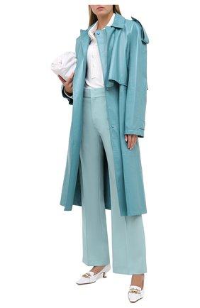Женские шерстяные брюки ISABEL MARANT зеленого цвета, арт. PA1764-20A016I/L0KIA | Фото 2