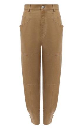 Женские кожаные брюки ISABEL MARANT бронзового цвета, арт. PA1770-20A002I/XIAMA0 | Фото 1