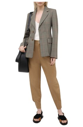 Женские кожаные брюки ISABEL MARANT бронзового цвета, арт. PA1770-20A002I/XIAMA0 | Фото 2