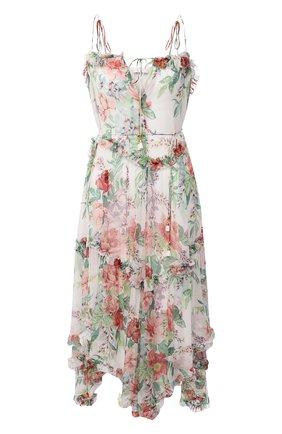 Женское шелковое платье ZIMMERMANN бежевого цвета, арт. 3126DBTD | Фото 1