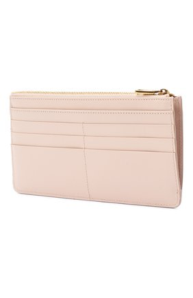 Женский кожаный футляр для кредитных карт DOLCE & GABBANA светло-розового цвета, арт. BI1265/AX121 | Фото 2