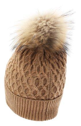 Женский шерстяная шапка DOLCE & GABBANA бежевого цвета, арт. FX982T/JAM8Z | Фото 2