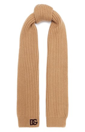 Мужские кашемировый шарф DOLCE & GABBANA бежевого цвета, арт. FX213Z/JAW4Z | Фото 1