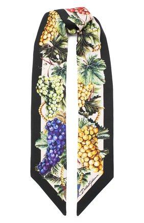 Мужские шелковый шарф DOLCE & GABBANA черного цвета, арт. FS215A/GDW05 | Фото 1