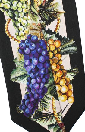 Мужские шелковый шарф DOLCE & GABBANA черного цвета, арт. FS215A/GDW05 | Фото 2