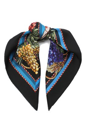 Женский шелковый платок DOLCE & GABBANA черного цвета, арт. FN093R/GDW04 | Фото 1