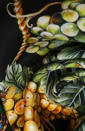 Женский шелковый платок DOLCE & GABBANA черного цвета, арт. FN090R/GDW03 | Фото 2