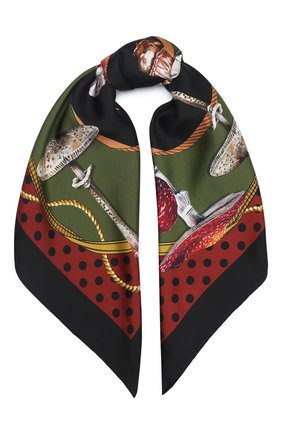 Женский шелковый платок DOLCE & GABBANA разноцветного цвета, арт. FN090R/GDW03 | Фото 1