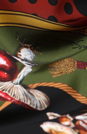 Женский шелковый платок DOLCE & GABBANA разноцветного цвета, арт. FN090R/GDW03 | Фото 2