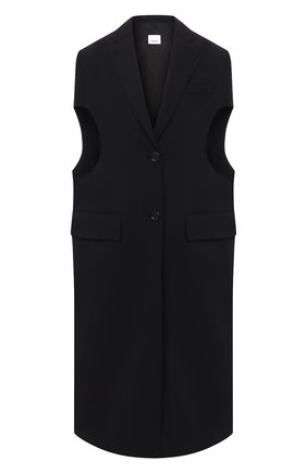Женский шерстяной жилет BURBERRY черного цвета, арт. 8032074 | Фото 1