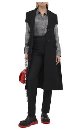 Женский шерстяной жилет BURBERRY черного цвета, арт. 8032074 | Фото 2