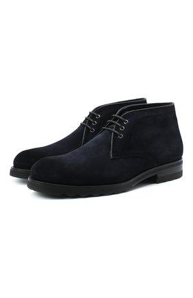 Мужские замшевые ботинки MAGNANNI темно-синего цвета, арт. 22366/CR0STIDIFU | Фото 1
