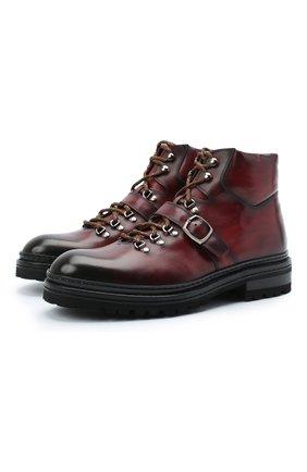 Мужские кожаные ботинки MAGNANNI красного цвета, арт. 22379/MANCHESTER | Фото 1