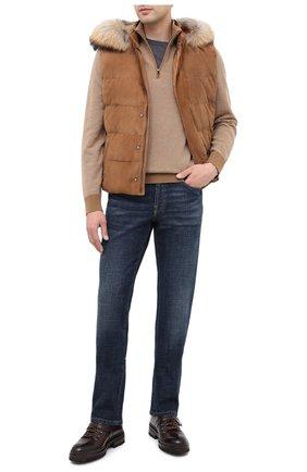 Мужские кожаные ботинки MAGNANNI темно-коричневого цвета, арт. 22379/MANCHESTER | Фото 2