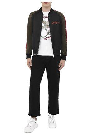 Мужские кожаные кеды ALEXANDER MCQUEEN белого цвета, арт. 625156/WHXMT | Фото 2