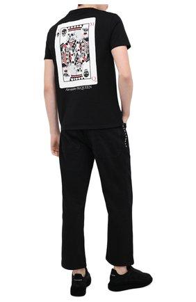Мужские замшевые кеды ALEXANDER MCQUEEN черного цвета, арт. 625167/WHXK9 | Фото 2