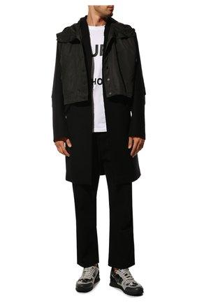 Мужские комбинированные кроссовки valentino garavani rockrunner VALENTINO темно-серого цвета, арт. UY2S0723/XVU | Фото 2