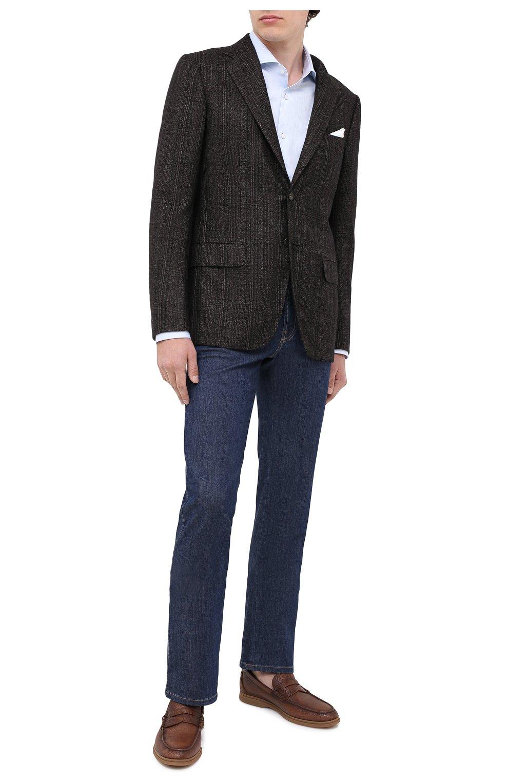Мужские кожаные пенни-лоферы BRUNELLO CUCINELLI коричневого цвета, арт. MZUT0GB946 | Фото 2