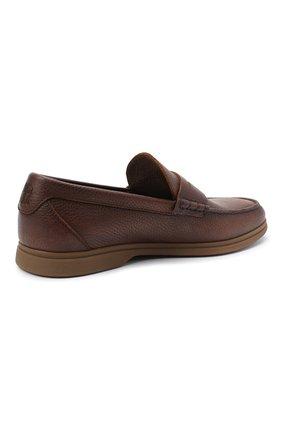 Мужские кожаные пенни-лоферы BRUNELLO CUCINELLI коричневого цвета, арт. MZUT0GB946 | Фото 4