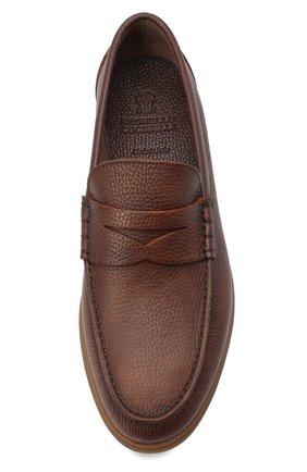 Мужские кожаные пенни-лоферы BRUNELLO CUCINELLI коричневого цвета, арт. MZUT0GB946 | Фото 5
