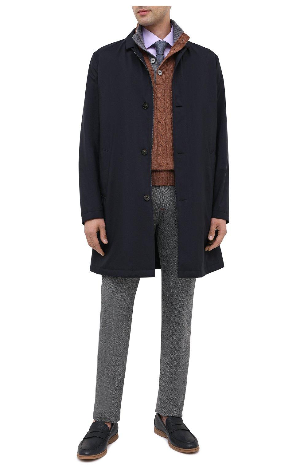 Мужские кожаные пенни-лоферы BRUNELLO CUCINELLI темно-синего цвета, арт. MZUT0GB946 | Фото 2