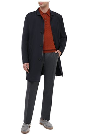 Мужские замшевые пенни-лоферы BRUNELLO CUCINELLI серого цвета, арт. MZUC0BB946 | Фото 2