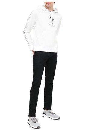 Мужские текстильные кроссовки BRUNELLO CUCINELLI светло-серого цвета, арт. MZUPMB0252 | Фото 2